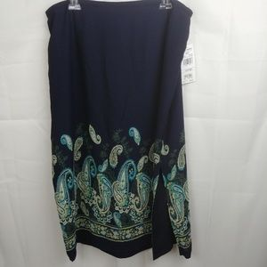 NWT🌟Alfred Dunner Navy Blue w/Paisley Motif Sz 20